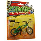 Max Stunt Die Cast Finger BMX Stunt Bike With Break - Green
