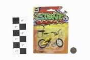 Max Stunt Die Cast Finger BMX Stunt Bike With Break - Yellow