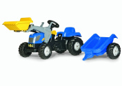 Rolly Kid New Holland TVT 190 Tractor with Frontloader & Trailer