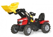 Rolly Toys Massey Ferguson 8650 Tractor with Frontloader and Pneumatic Tyres