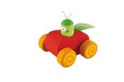 Caterpillar & Apple Squeaker Toy Car