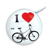 """Half Moon Bay Bicycle Bell - """"I Love My Bicycle"""" Design"""