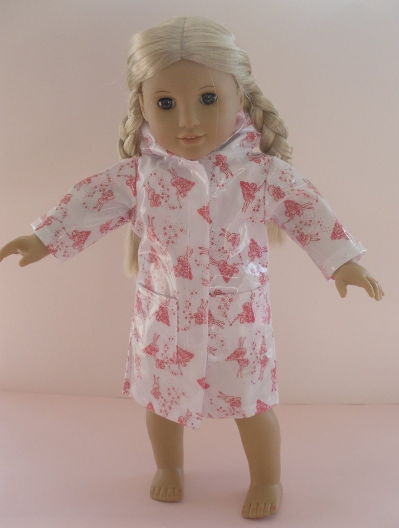 LONG FAIRY RAINCOAT FOR DOLLS AND BEARS MEDIUM SIZE1820 COAT ONLY