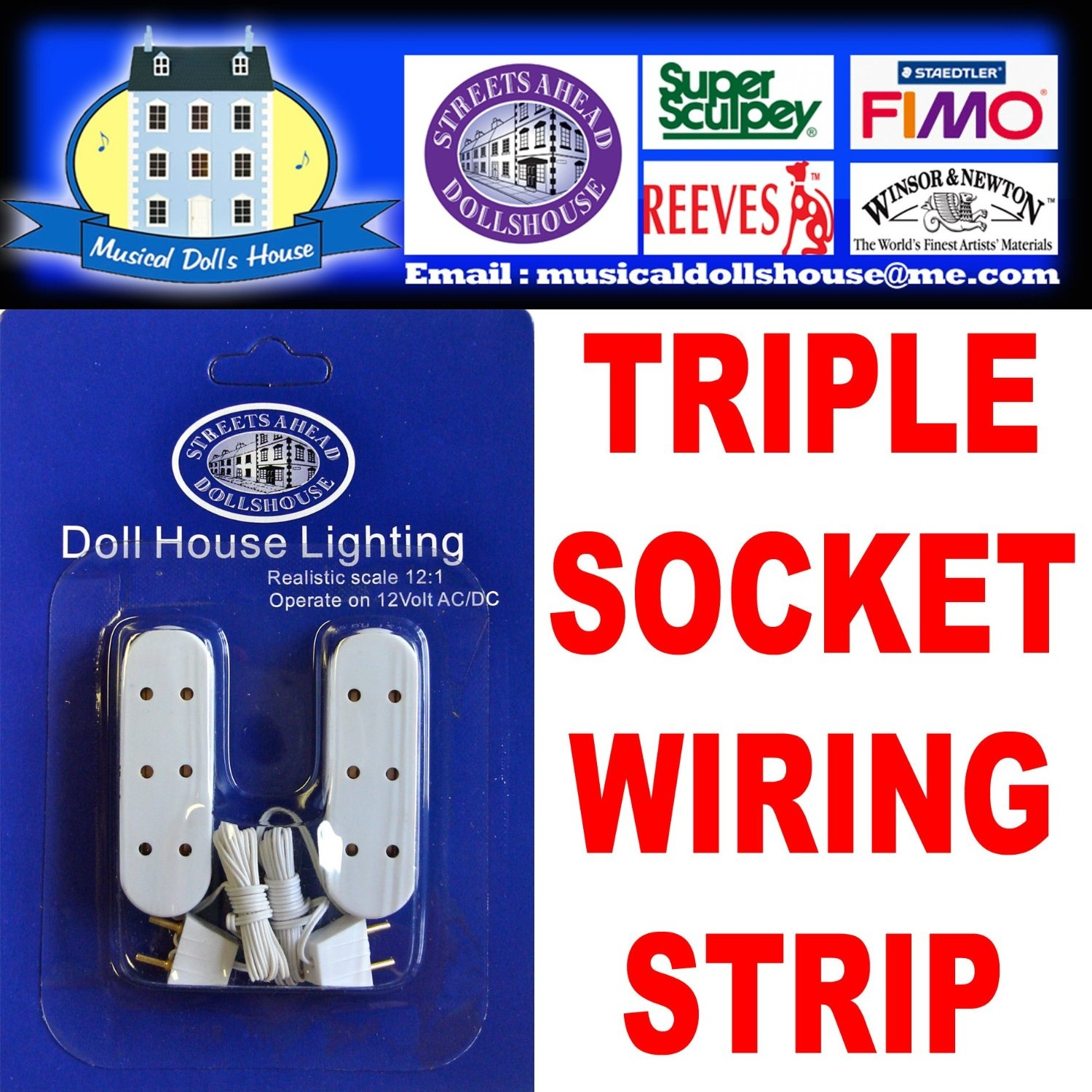 Dolls House Lighting Wiring And Connectors Starter Kit With 12 Volt Doll 2amp Power Supply Transformer Ready