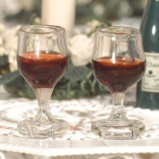 The Dolls House Emporium Glasses of Red Wine, 2 pcs