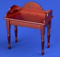 12th Scale Dolls House Furniture - Wash Stand / Side Table - Mahogany