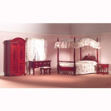 The Dolls House Emporium Traditional Bedroom Set, 5 pcs