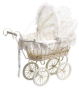 Pram, White with Lace