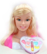 Beautiful Princess Beauty Styling Fashon Makeover Head with Necklace, Hair Brush, Hair Clips, Make-up, Lipstick, Hair Clip, Coloured Hair Extensions