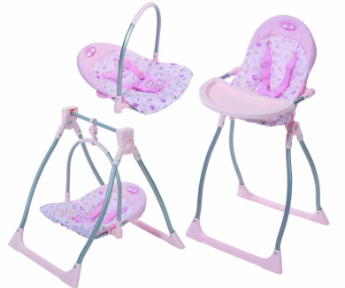 baby annabell 3 in 1 highchair with swing and comfort seat by baby annabell shop online for. Black Bedroom Furniture Sets. Home Design Ideas