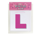 Unique Party Hen Party Pink 'L' Plate With Ribbon Girls Night Out Bride To Be L Plates