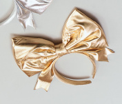 Giant Bow on Headband - Gold