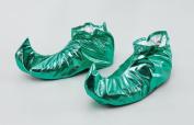 Jester / Elf Shoe Covers Metallic Green