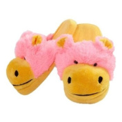 My Pillow Pets Neon Hippo Slippers Medium Child Size 1-3