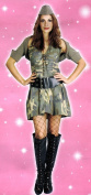Adult Costume: Army Girl
