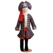 Captain Pirate Boys Costume Size 3-5 years