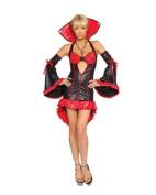 Ladies 2Pc Elegant Vampire Fancy Dress by Roma Costume 8-10 uk