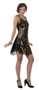 Gatsby Drops Gangsters Moll Flapper Fancy Dress Costume, Medium size