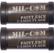 2 x Pack of Camo Face Paint Sticks Camouflage Olive Green and Black