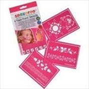 Amscan International Snazaroo Re-Use Stencils Girls