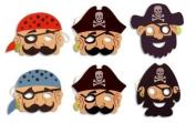 Pirate Foam Masks 6pk