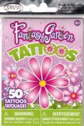 Fantasy Garden Girls Temporary Tattoos - 50+ tattoos