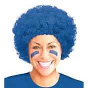 Amscan Curly Afro Wig (1 Piece), Blue, 28cm x 20cm