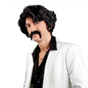 Chuck wig with moustache