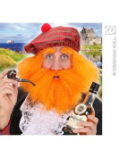 Scottish Jock w/ Beard Brows Wig for Fancy Dress Costumes & Outfits Accessory