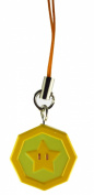 Super Mario 3D Land Icon Danglers Approx.190cm Keychain Fig- Star Coin