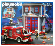 Playmobil 5027 - fire brigade headquarters with fire truck