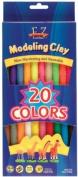 EZ Shape Modelling Clay Non-Hardening 380mls-Assorted Colours 20/Pkg