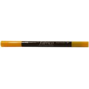 Tsukineko Fabrico Fabric Duel Ended Marker - Lemon Yellow
