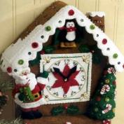Christmas Time Clock Wall Hanging Felt Applique Kit-22cm X44cm X10cm