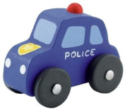 Miniature Wooden Toy Police Car