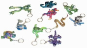 12 Assorted Sand Animals Soft Toy Keychains 7cm