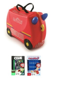 Trunki Freddie the Fire Engine & 2 Travel Games Guess Who & Cluedo