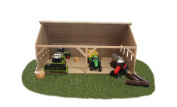 Kids Globe Small Wooden Farm Shed for Tractors