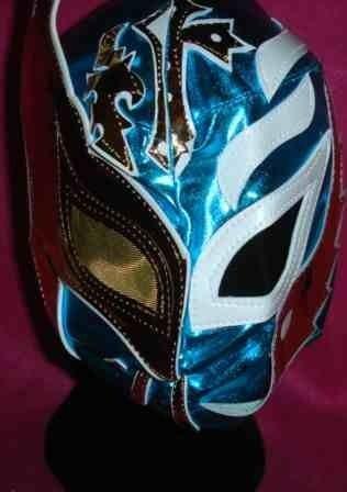 Rey Mysterio Sin Cara Mask Blue Half Half Style Wwe Wrestling Fancy
