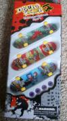 Decks Rule Extreme Ozzbozz Set Of 3 Fingerboard Finger Skateboard Set And Accessories Mini Skateboard