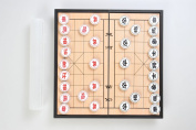25cm x 25cm Classic Chinese Chess / Xiangqi Game Set with Magnetic Folding Board
