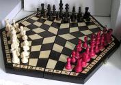ChessEbook 3 PLAYER CHESS set 54 x 47 cm