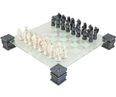 Dragon Fantasy Glass Chess Set