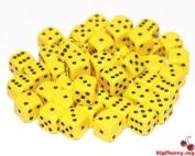 Big Cherry Dice, 50 x 12mm Round Corner Spot - Yellow