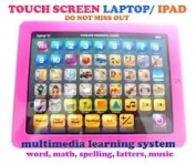 MY FIRST LAPTOP COMPUTER FOR KIDS - CHILDREN'S EDUCATIONAL GAME TOY LEARNING PAD iPAD