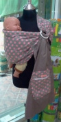Palm and Pond Ring Sling - Grey With Pink Polka Dots
