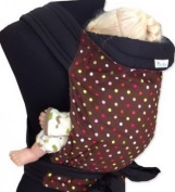 Palm and Pond Mei Tai Sling - Brown & Multi Polka Dots