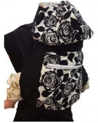 Palm and Pond Mei Tai With Hood And Pocket - Black Floral