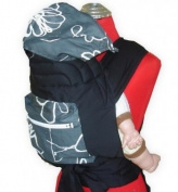 Palm and Pond Mei Tai With Hood & Pocket - Grey White Design