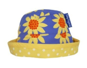 Toby Tiger Baby Girl's Reversible Tie Sunhat Sunflower